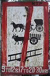 No Bullock Carts Road Sign
